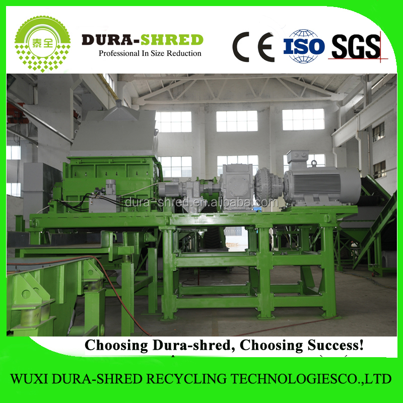 Dura-shred good performance used tire shredder recycling machine