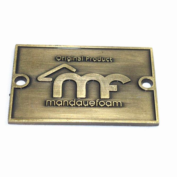 Atacado de Alta Qualidade Bolsa Logotipo Placa de Metal Placa de Identificação De Bronze Personalizada