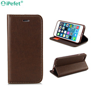 New Design Premium Flip Wallet Leather Stand Case For iPhone 6 For Samsung