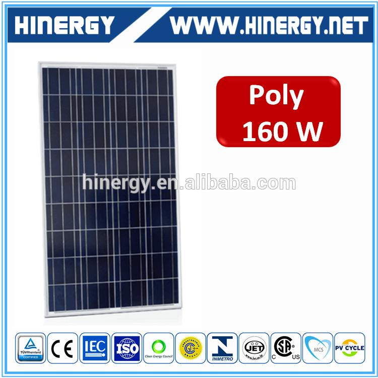 poly 160w split flat panel solar water heater 160 watt polycrystalline solar panel 160 watt solar panel pv 2016 hot Sales