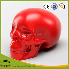 Custom skull money box design,OEM design skull shape money saving box,Custom plastic skull funny money saving box factory