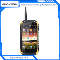 IP68 waterproof shockproof android4.4 MTK6582 quad core dual sim NFC smart phone push to talk