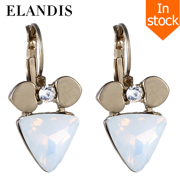E-ELANDIS Earring boucle d'oreille pendant exquisite Geometric crystal small earrings gold alloy dangle 2015 drop earrings