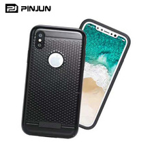 Luxury fashionable honeycomb tpu pc hybrid case for iphone 8 mobile case covers