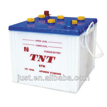 Dry-charged popular storage battery 100Ah 12V battery