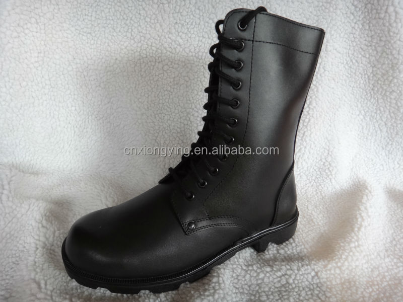 leather military boot with good quality rubber sole JX-XY06
