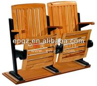High Quality Solid Wood With Varnish Finished Folding Theatre Seat