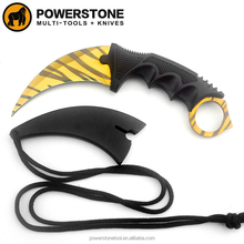 Karambit knife Tactical knife with tiger tooth blade