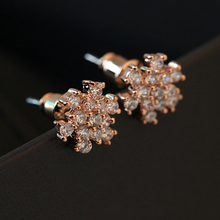 Snowflake Delicate fashion Jewelry Eye-Catching plain dildo Earring yiwu wholesale