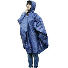 Stylish Polka Dots Women Hooded Rain Poncho Outdoor Hiking Funny Ponchos