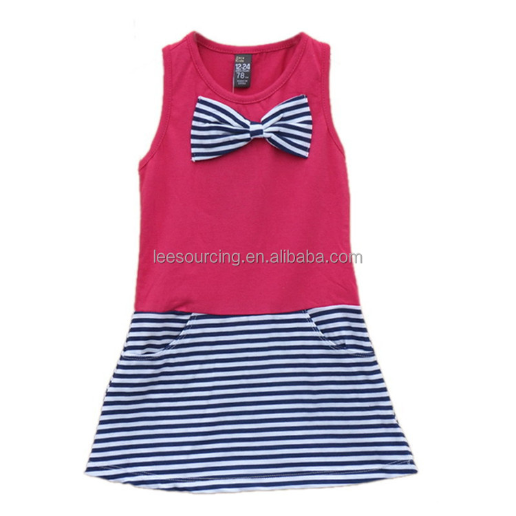 Wholesale summer baby girl one piece pattern online shopping kids vest dress