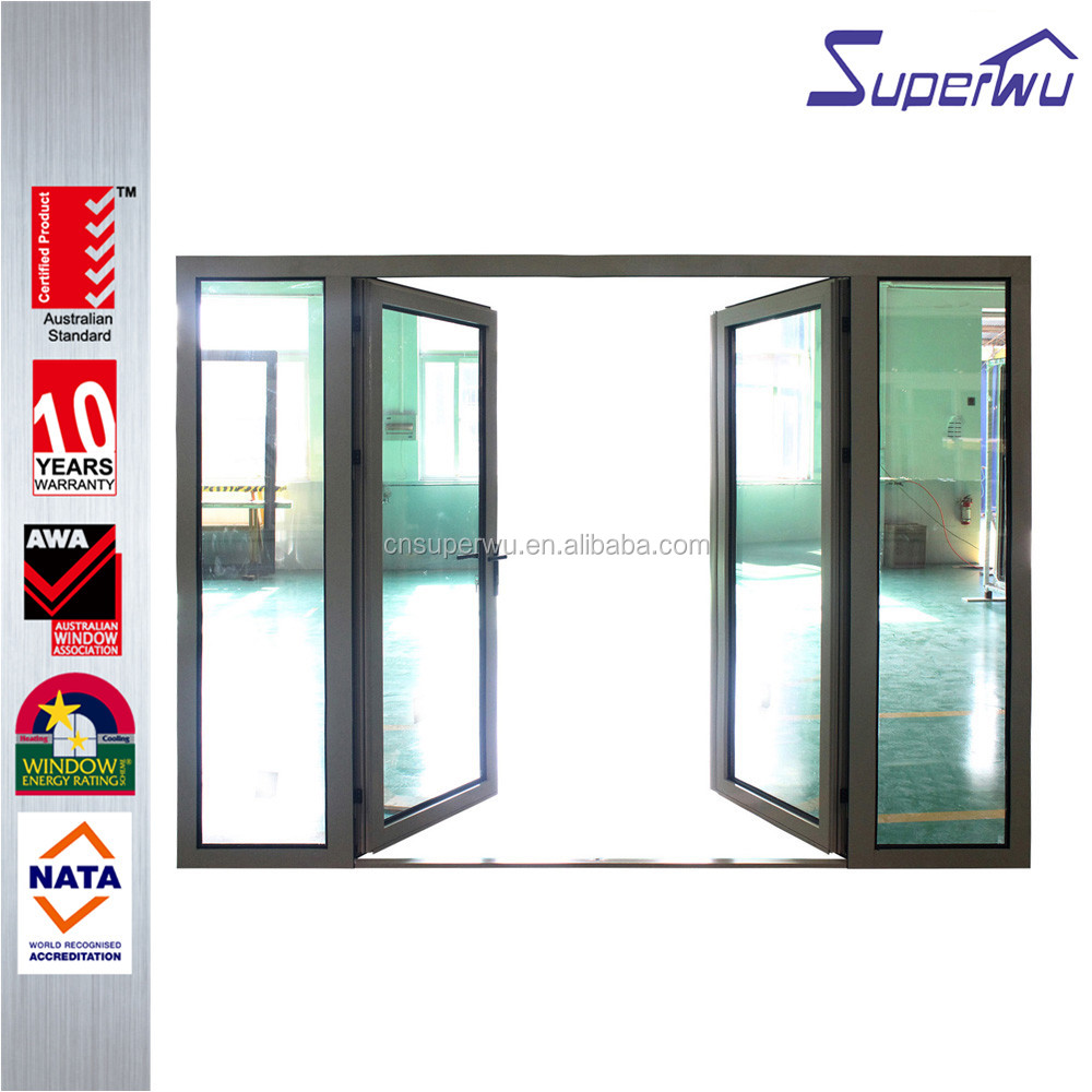 China supplier for residential house tempered glass swing doors