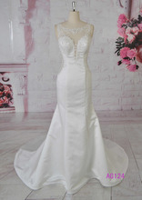 2015 deep v neck see through back spanish style wedding dress