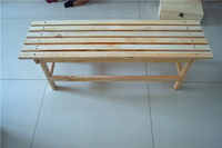 New Designs Backless Wooden Bench, 4-Foot