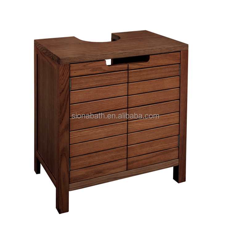 China wholesale acacia solid wood bathroom cabinet