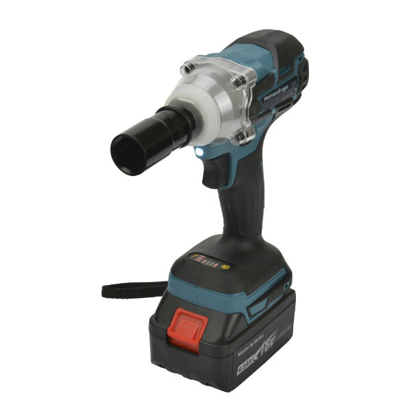 Work Tools! Rechargeable Electric Brushless Impact Cordless Wrench for Concrete and Steel