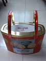 Amazing and beautiful biscuit tin with double long handle