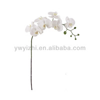 95cm white yiwu artificial flower 807B-7 phalaenopsis coated with glue
