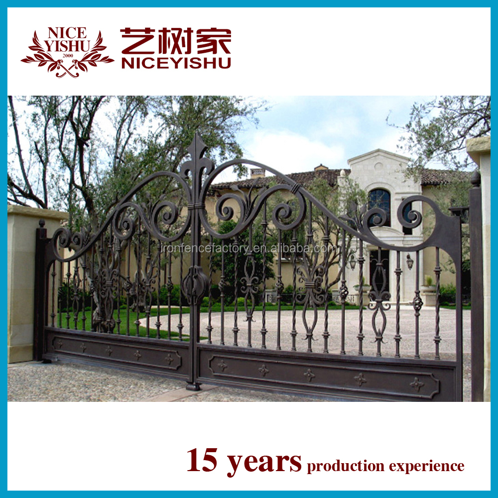 House Gate Designs/iron Main Gate Designs/cheap Wrought Iron Garden ...
