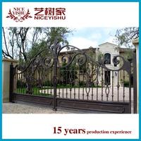 house gate designs/iron main gate designs/cheap wrought iron garden entry gates
