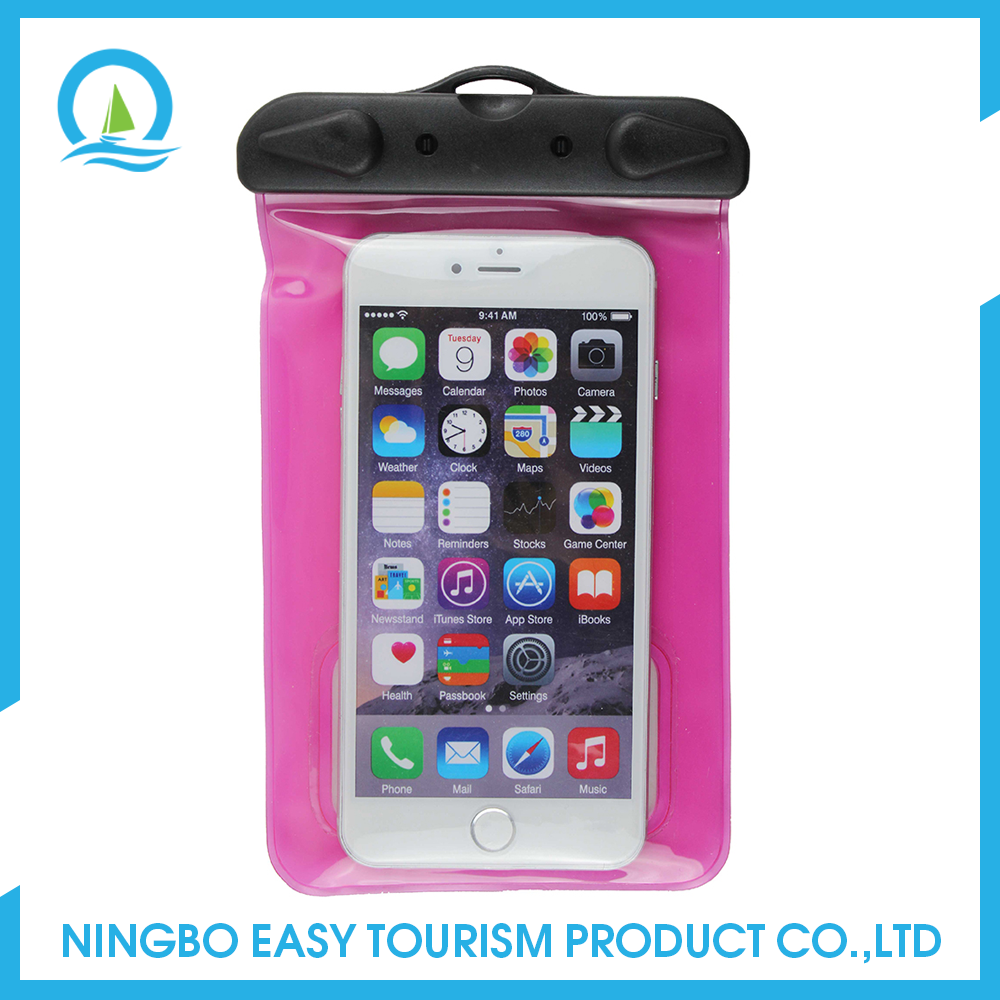 Mobile Phone Accessories With Earphone Jack Waterproof Bag For Swimming
