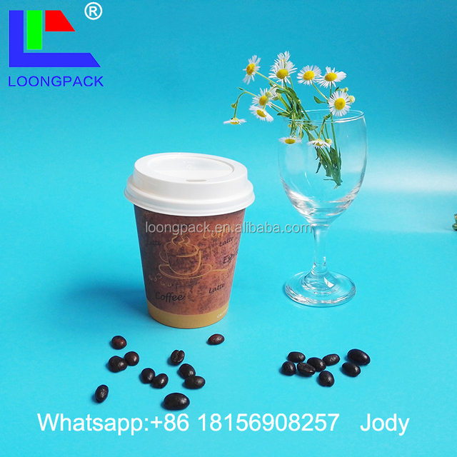 biodegradable paper juice cup with plastic lid