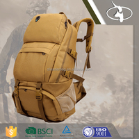 Military Hiking Canvas Backpack Rucksack Hiking Bag with Multi-functions