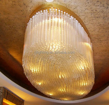 Large hotel project lighting oval decorative egg chandelier glass ceiling light modern hotel lobby chandelier light