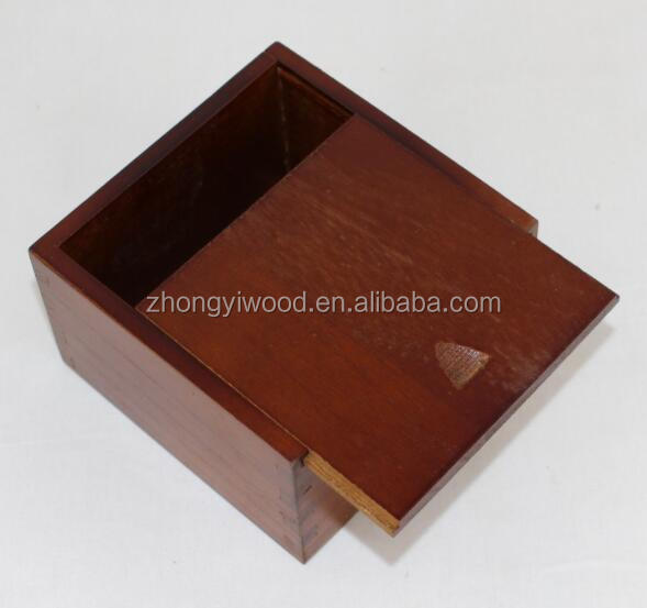 Good Quality Wooden Cute Storage Box with Slide Top