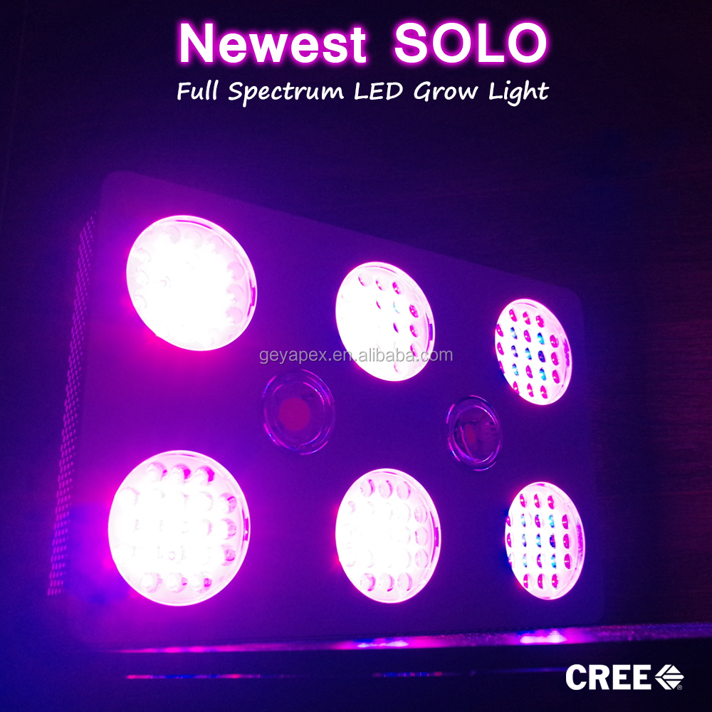 Newest silent led grow lights 400 watt with powerful cob crees cxa2540 growth greenhouse light