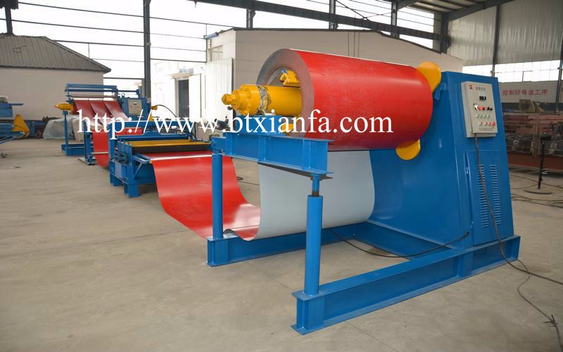 New Type Color Steel Sheet Uncoiling Slitting Cutting Collecting Line