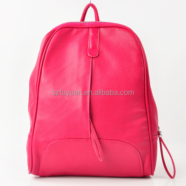 2017 Cute Pink High School Girls Pu Leather Backpack Bags For ...