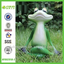 Epoxy Green Ornament Garden Resin Yoga Frog