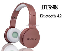 wholesale stereo long range bluetooth headset with microphone with mp3 player