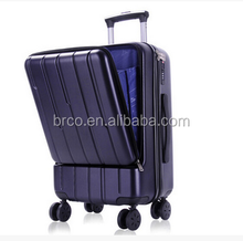 smart luggage abs trolley luggage with front pocket