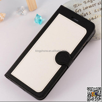PU leather insert card 4.7 & 5.5 inch wallet flip case for iphone 6