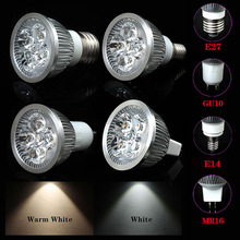 Dimmable 5W/4W/3W LED Constant Light Output Spotlight Bulb Lamp High Brightness E27/E14/GU10/MR16 Cool/Warm White