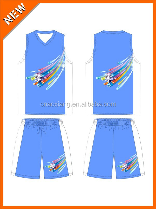 Latest China popular and colorful school students Guangzhou sublimtion basketball jersey