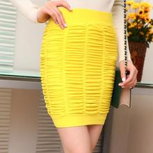 Cheapest New Fashion 2016 Summer Women Skirts 11 Candy Color Elastic Pleated Short Skirt