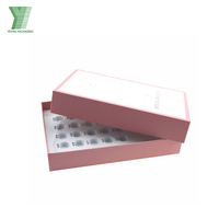 High end pink cusomized logo essential oil cosmetic paper box with EVA insert