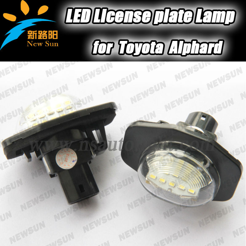 Pure White High Power 18SMD car number plate LED License Plate Light Lamps for Toyota Corolla Sienna Urban Cruiser Auris Alphard