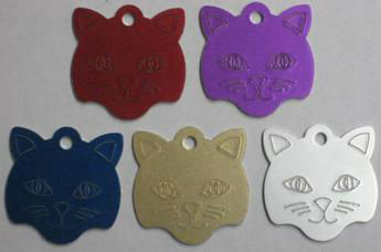Cat Face Engravable Pet Identification Tags