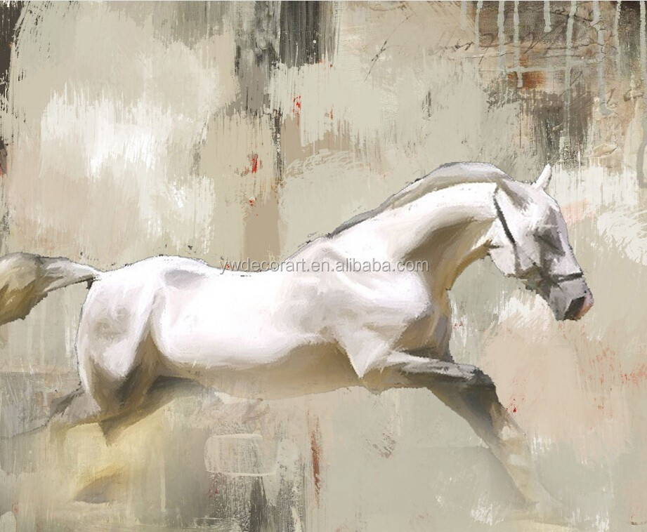 High Quality Oil Painting of Running Horse for wall decoration