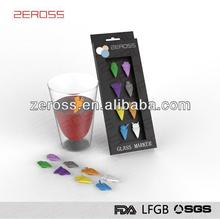 promotional gifts silicone Wine Glass Charms