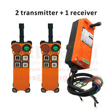 12v AC/DC two transmitter wireless industrial remote control crane for tower crane controller