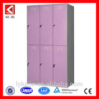 Simple style locker 6 door metal locker clothes wardrobe top grade innovative bedroom furniture 6 door wardrobe