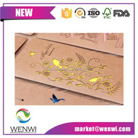 Factory brand craft paper wedding card