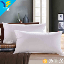 Hotel bed linen pillow inserts square white 100% cotton fabric down pillow