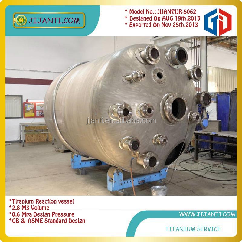 Model JIJANTIJT 1105 titanium chemical reactor
