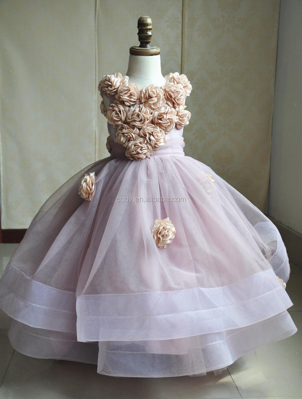Girls Dress Children\'s Princess Dresses Three Quarter Wedding Kids ...